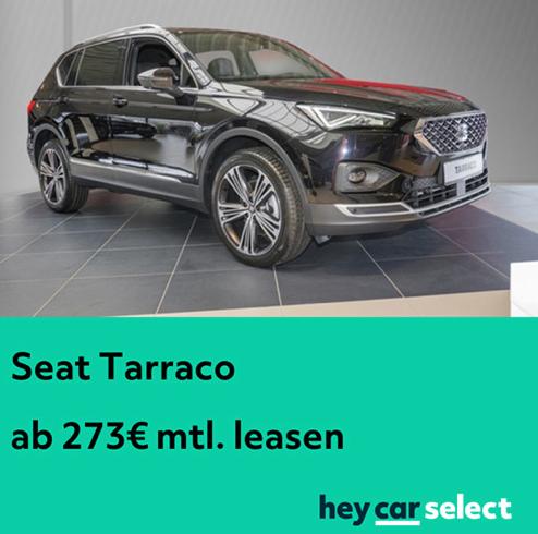 Seat Tarraco im Privatleasing ab 273,- EUR / Monat (LF: ab 0,60)