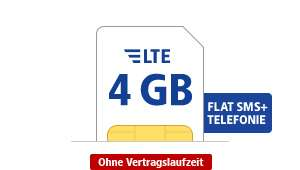 GMX Mobile 4GB für monatlich 6,99€ inklusive Mobile Flat + SMS Flat
