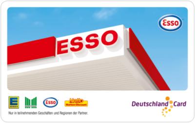 Esso 8 Fach Punkte auf Tanken mit der Deutschland card 4cent