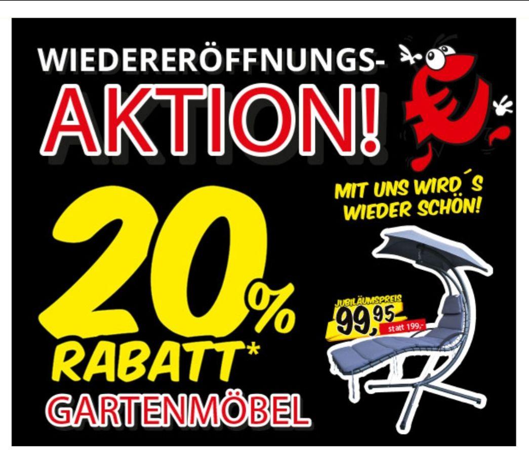 Aktion: 20% Rabatt auf Gartenmöbel [Local] Sconto Stralsund