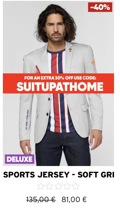 OppoSuits - 30% Corona-Rabatt auf Herren Anzüge und Blazer