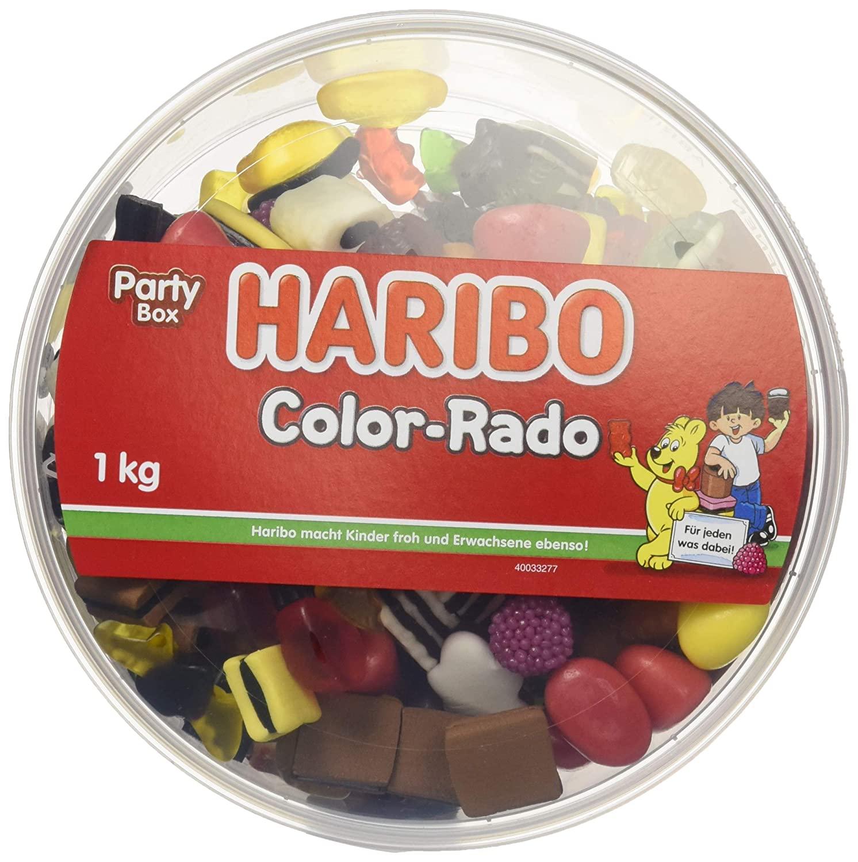 1 Kilo - HARIBO Color-Rado in der Party Box (Amazon Prime oder Spar-Abo)