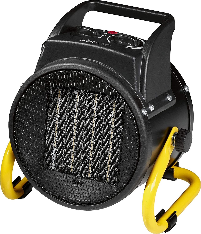 Clatronic HL 3651 Keramik-Heizlüfter, 4-Stufen-Schalter, stufenlos regelbarer Thermostat, 2 Heizstufen (1000/2000 W) für 15€ (Saturn)