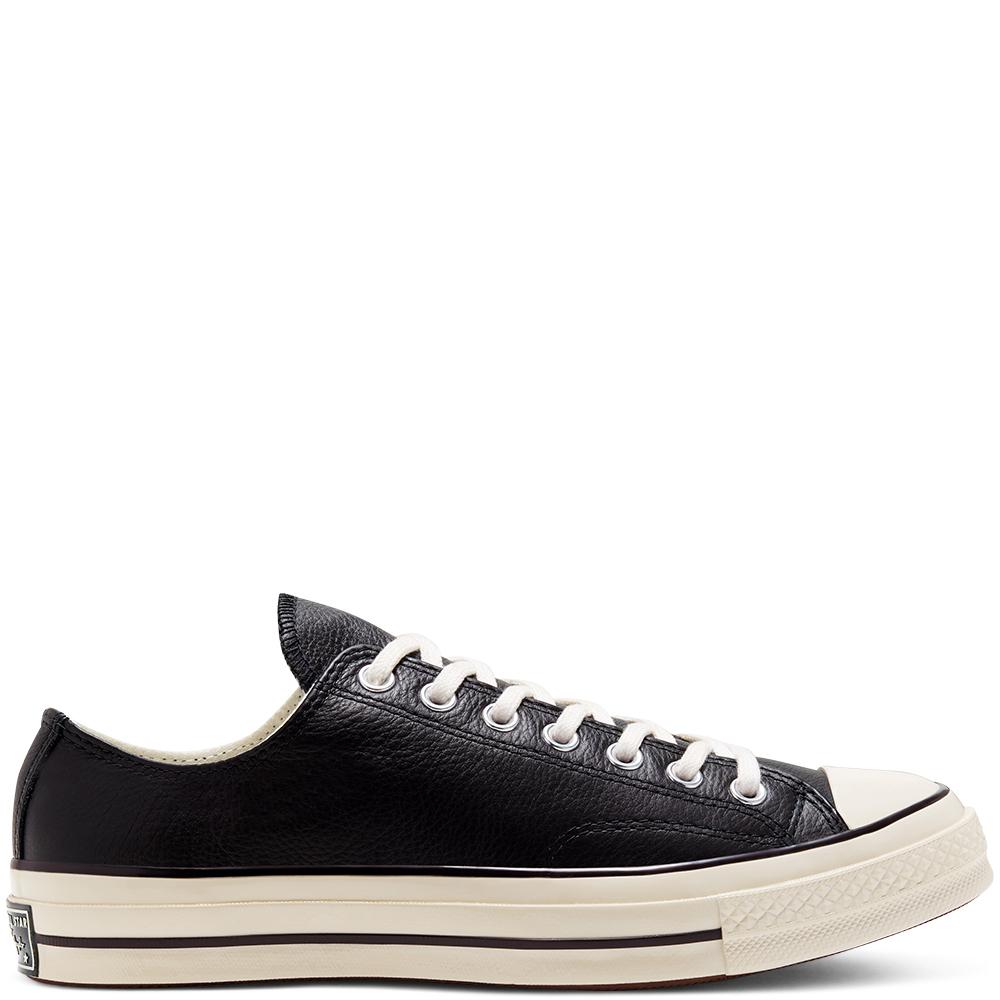Converse Chuck 70 Low Top Leder in schwarz und orange (neue Größen)