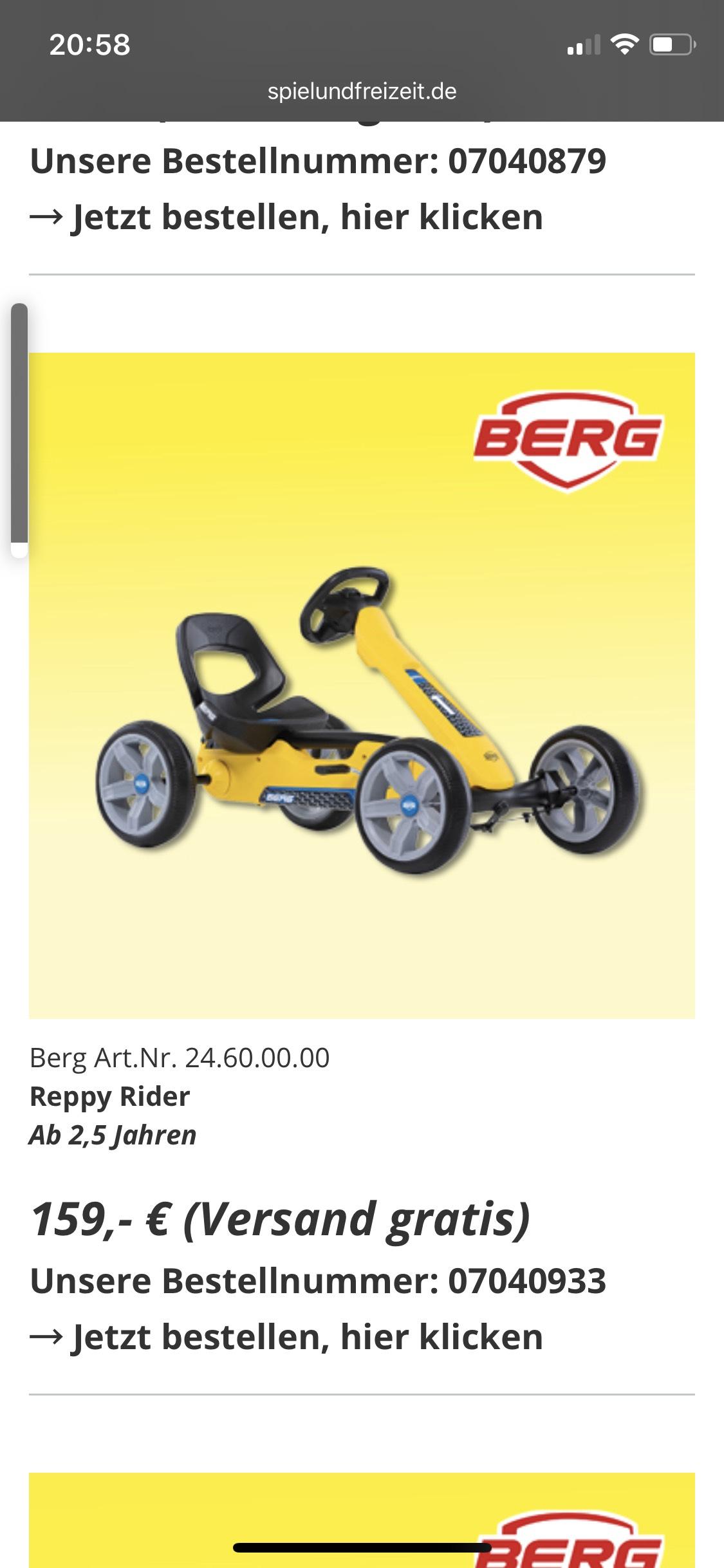 Go Kart Berg Reppy Rider