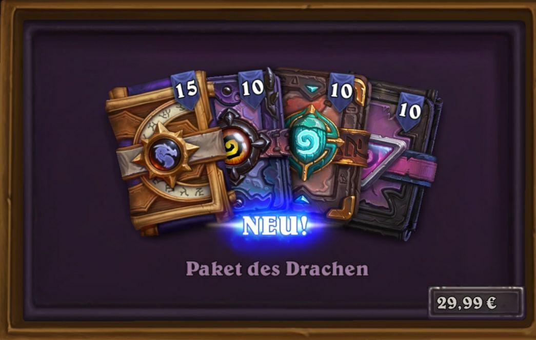 Hearthstone Paket des Drachen 45 Kartenpackungen bis 4 Mai für 29.99€