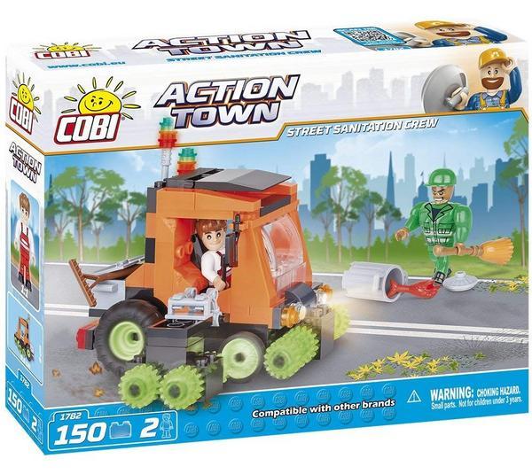 COBI Action Town, Street Sanitation Crew, Kehrmaschine Bausatz + 2 Figuren für 5,69€ (Thalia Club)