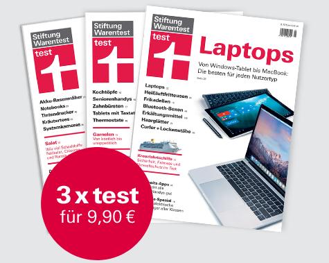 [Stiftung Warentest] 3 Ausgaben test + test Jahrbuch 2020 + Archiv-CD 2019 mit über 200 Tests und Reports für zusammen 9,90 €
