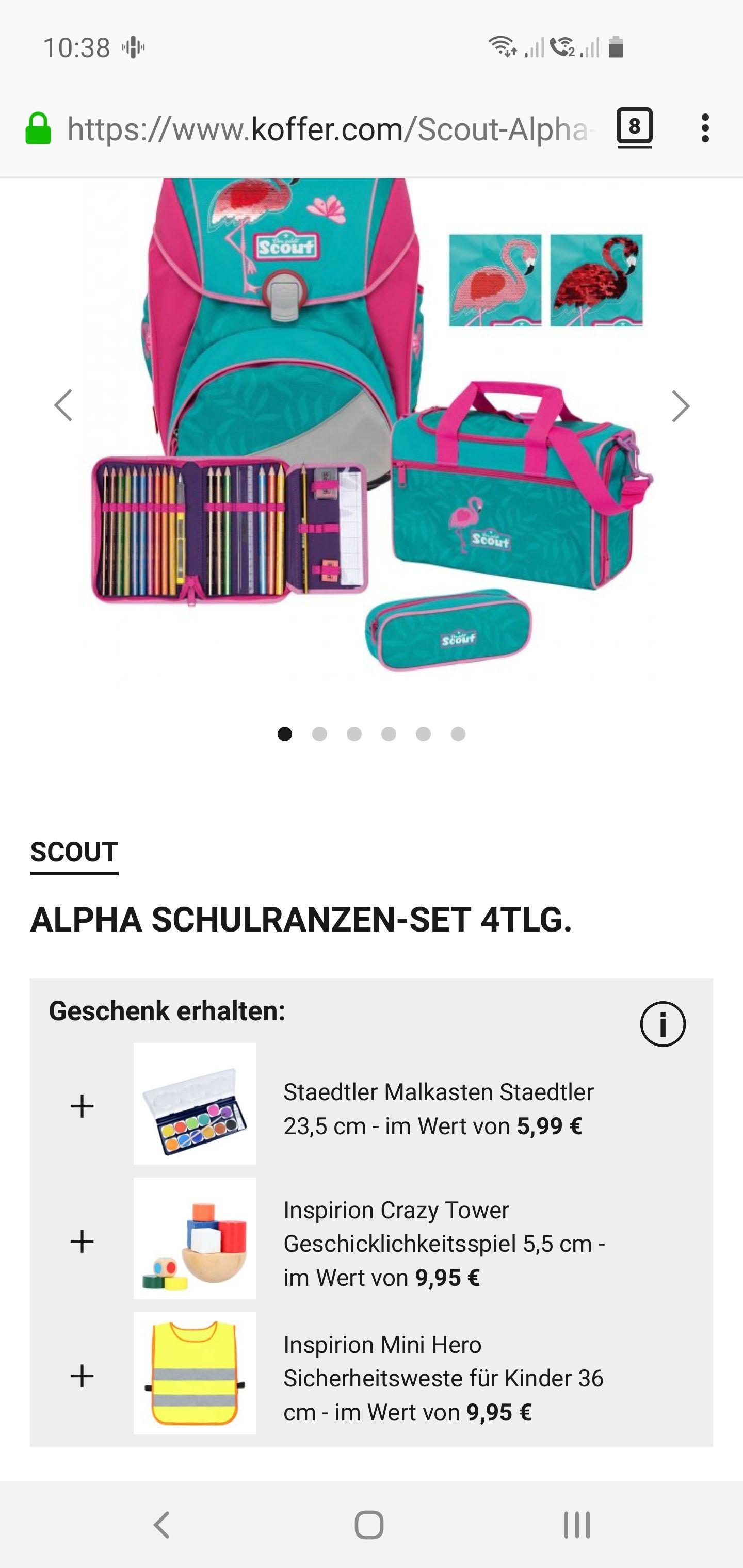 Scout alpha 2019/2020 4tlg. Glitter Flamingo