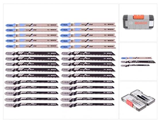 30 Stück: Bosch Professional Stichsägeblätter im Set