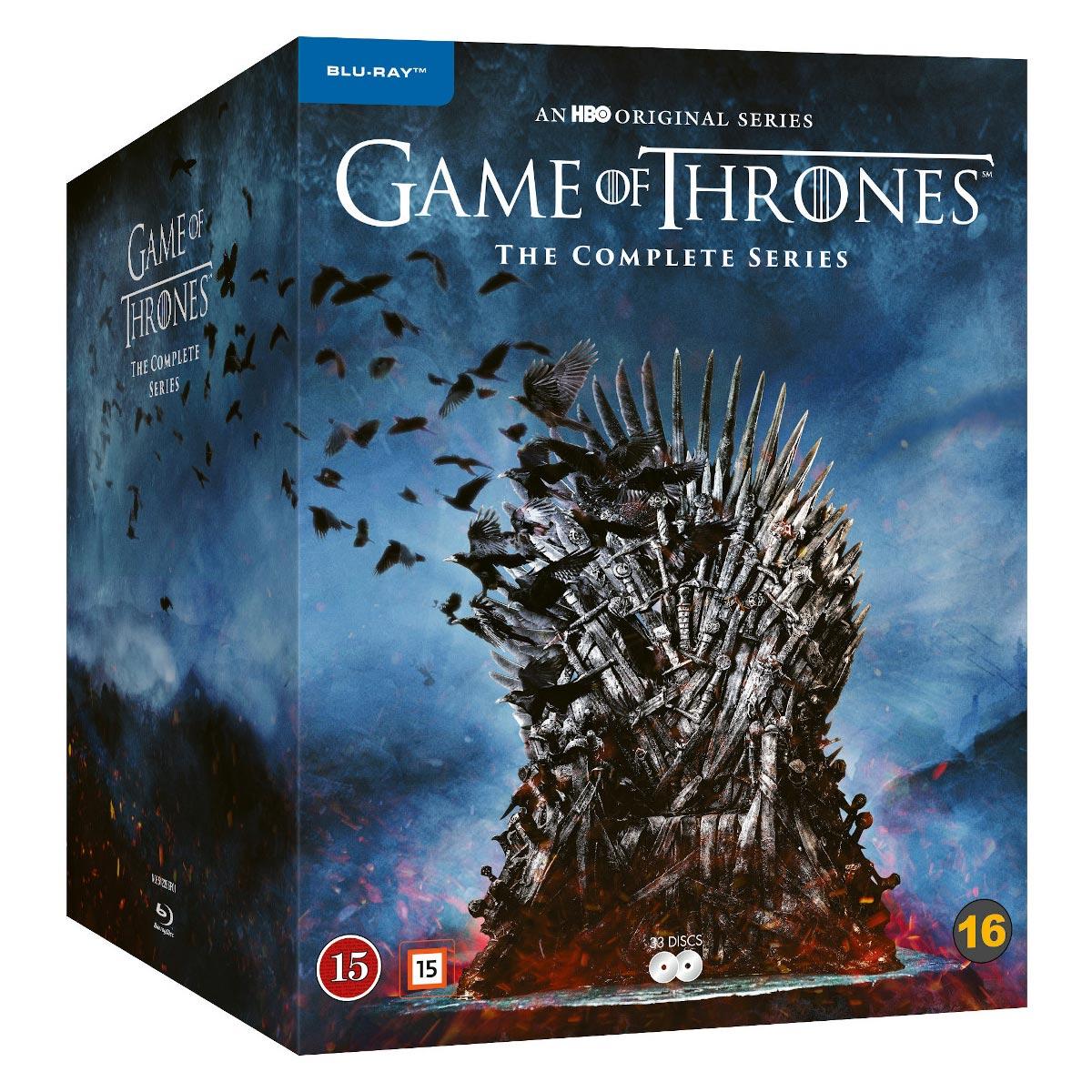 Game of Thrones Komplettbox Staffel 1-8 Blu-Ray aus Schweden. Deutscher Ton