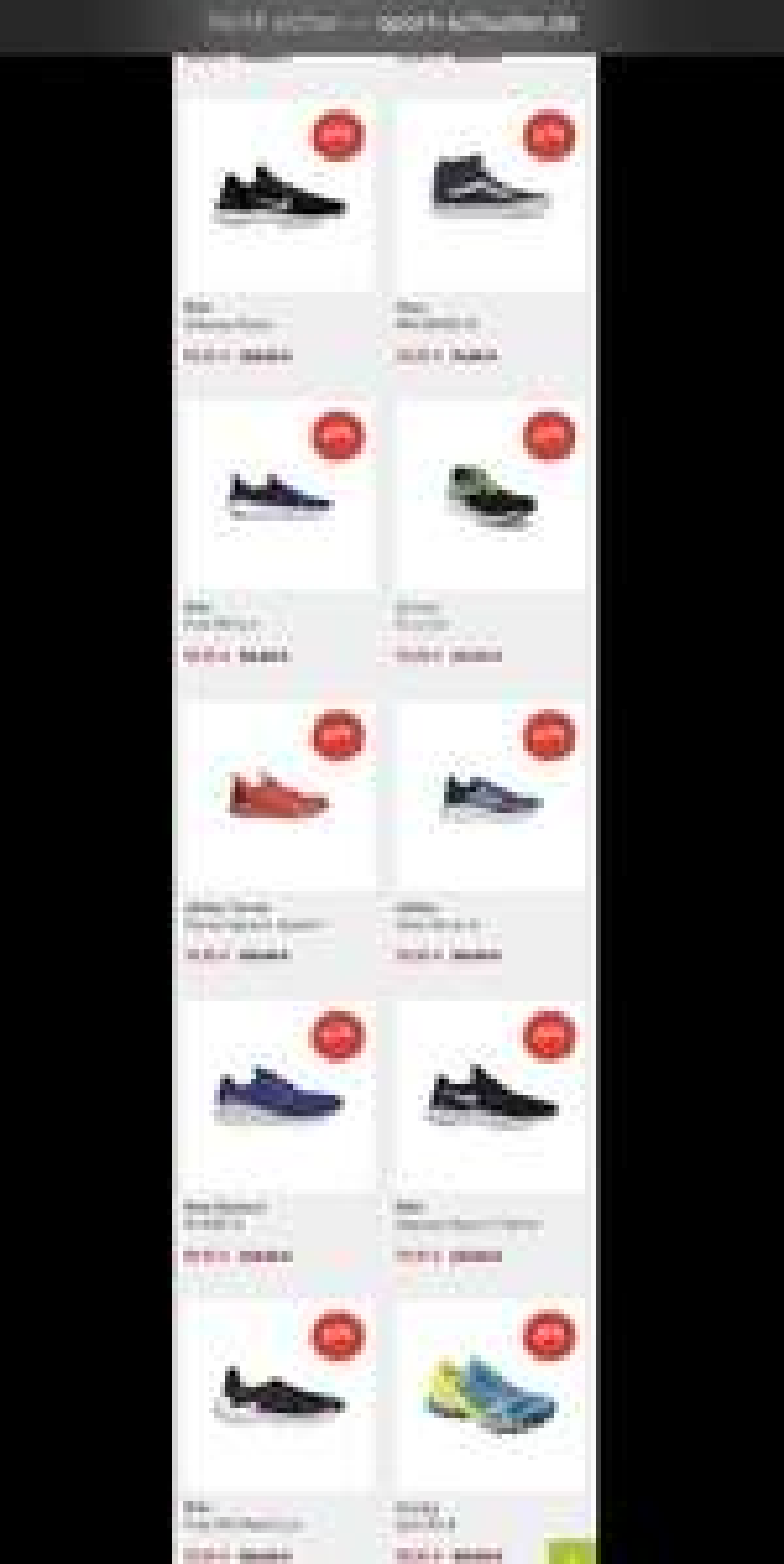 Laufschuhe, zB Nike Free ab 50€