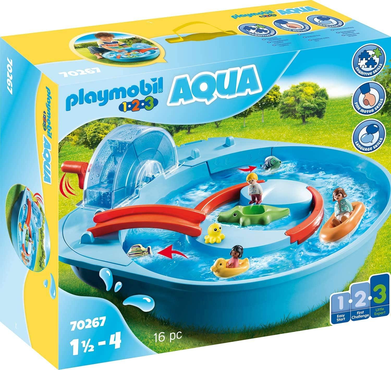Playmobil 1.2.3 Aqua (70267) Fröhliche Wasserbahn für 35,99€ (Müller Abholung & Amazon)