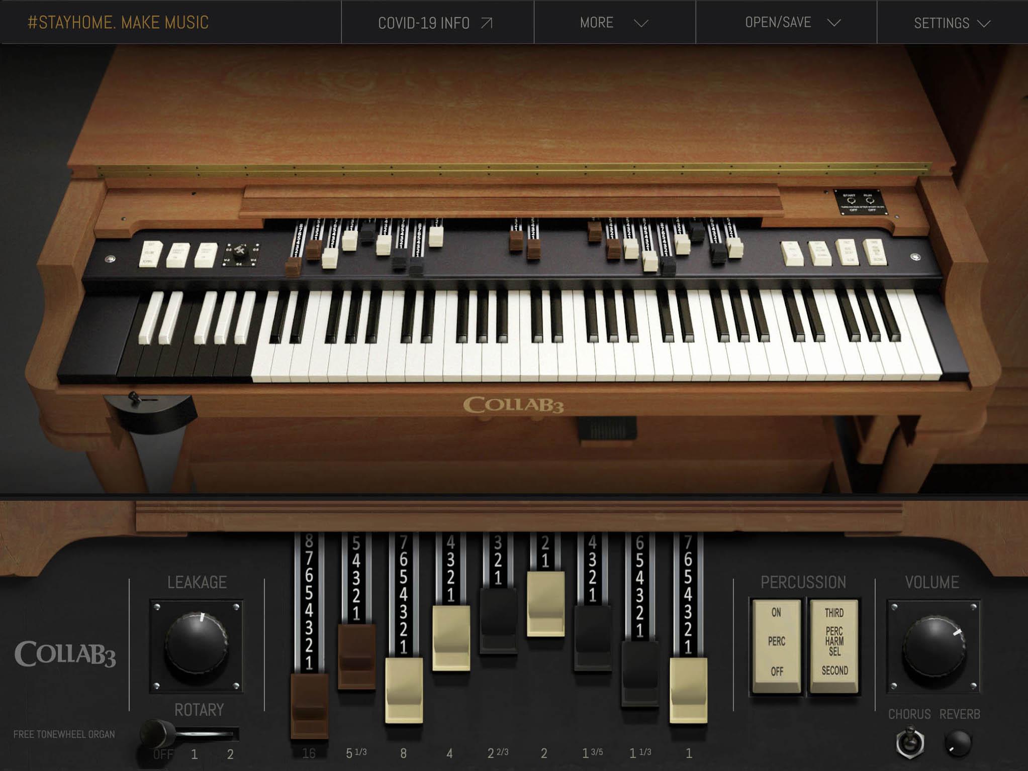 Free Vintage B3 Organ VST/AU-Instrument 32/64Bit
