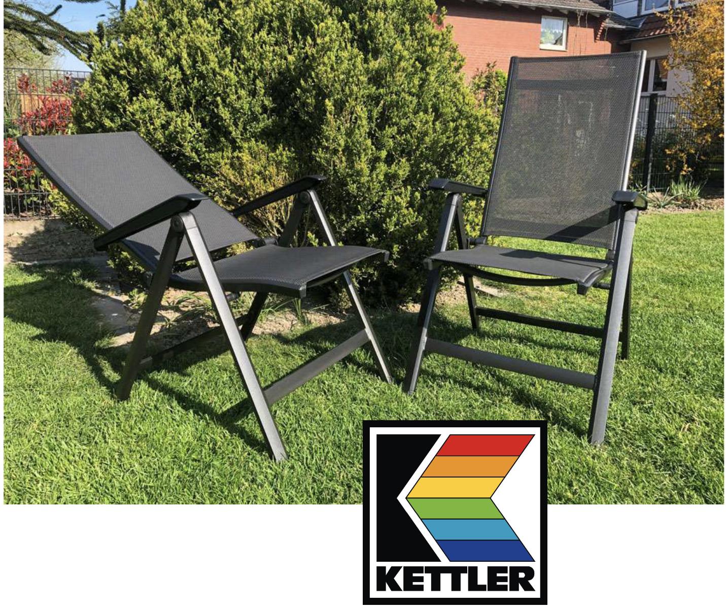 2 Stück Multipositionssessel Aluminium Klappsessel Friends von Kettler für zusammen 139,95€ inkl. Versandkosten