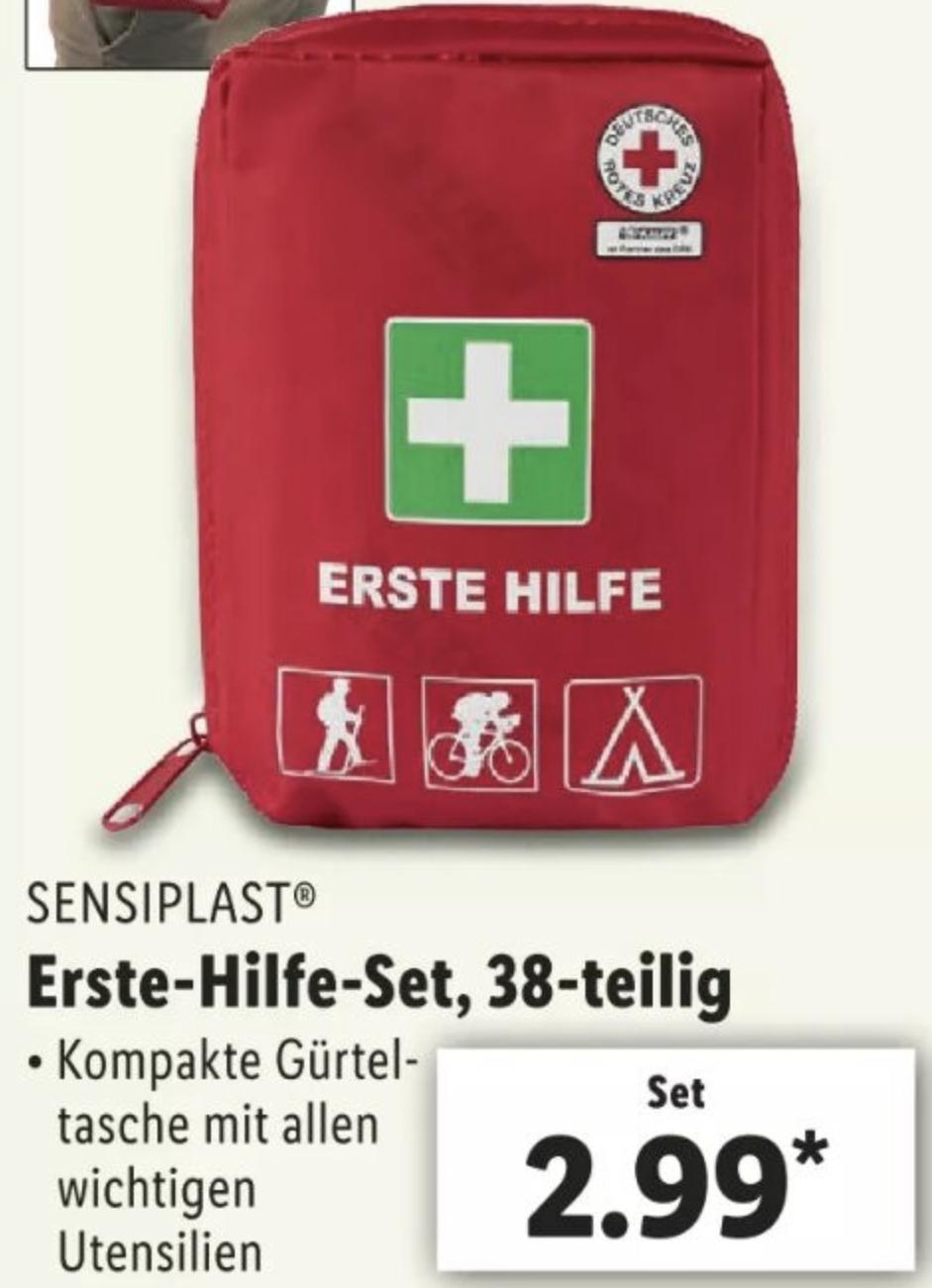 Sensiplast Erste Hilfe Set mit 38 Teilen und Gürtelschlaufe für 2,99€ - ab 07.05.