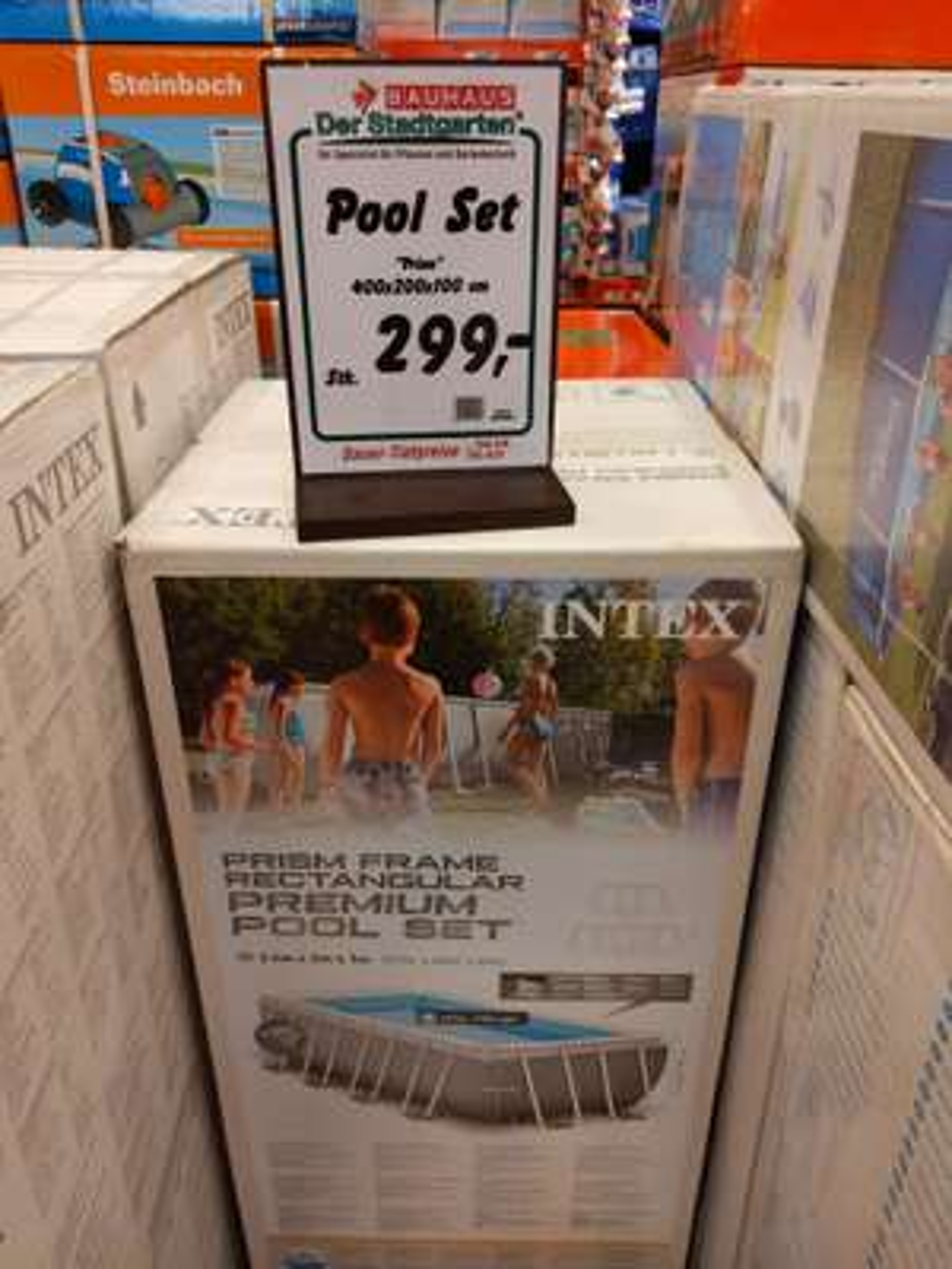 """Bauhaus Intex Prism 400 x 200 x 100 Pool Set mit """"Pumpe"""" und Leiter"""
