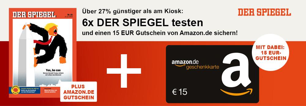 """6x """"Der Spiegel"""" lesen inkl. 15€ Gutschein   Probeabo   Abo"""