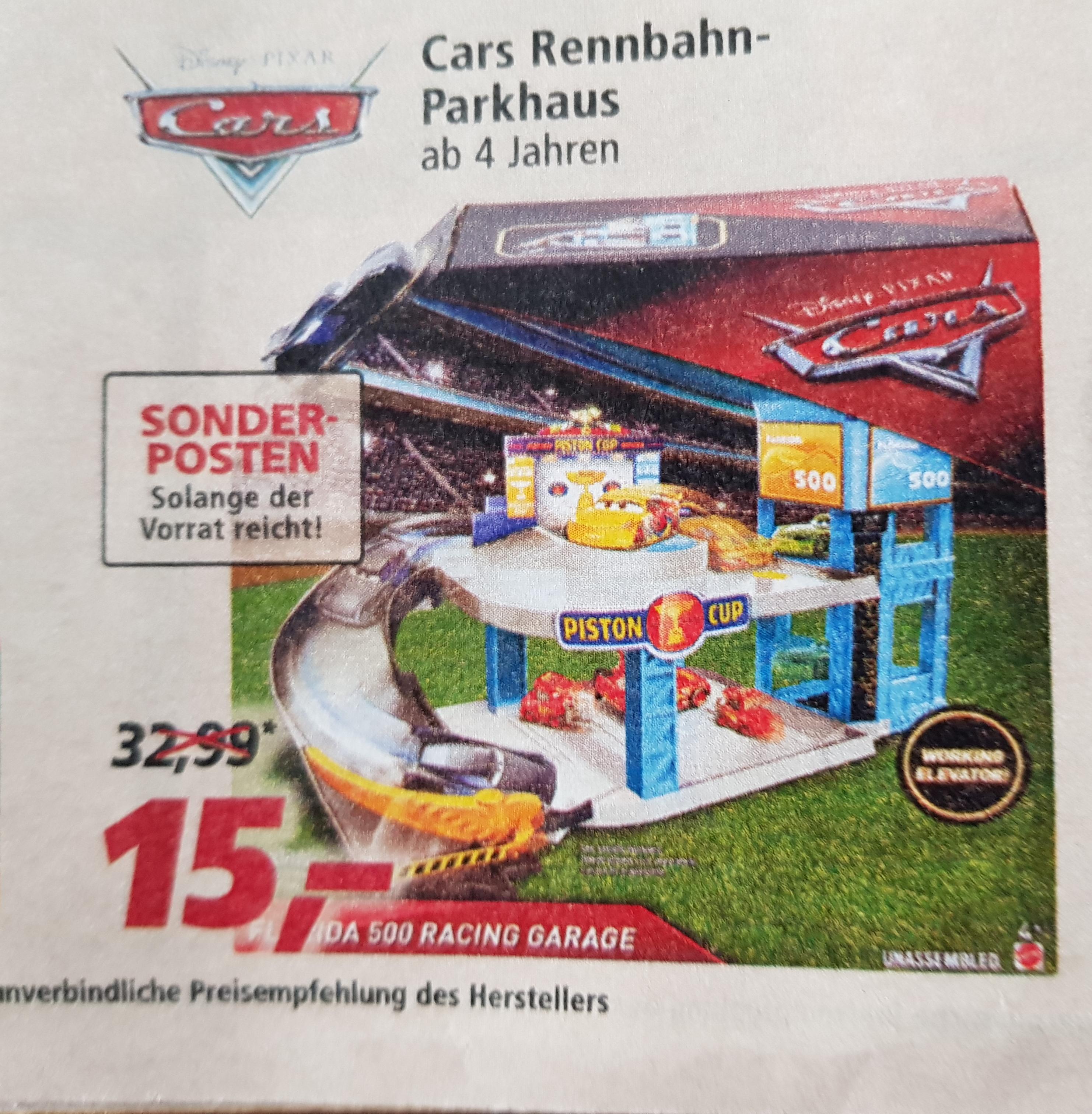 Mattel Disney Cars FWL70 Florida 500 Rennbahn-Parkhaus ab 27.04. in allen real Filialen bundesweit