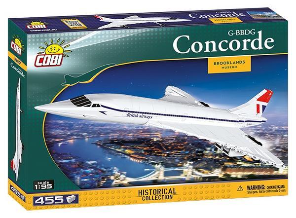 Concorde G-BBDG COBI Modellbausatz aus Klemmbausteinen 455 Teile Historical Collection Maßstab 1:95