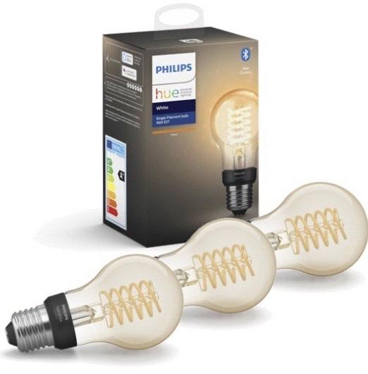 Philips Hue - 3xE27 Filament A60