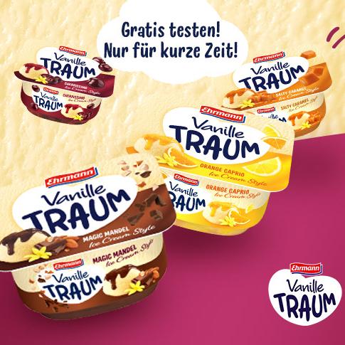 """Ehrmann VanilleTraum """"Ice Cream Style"""" kostenlos mit Coupon (5x einlösbar in alle teilnehmenden Kaufland Märkten) [Couponplatz]"""