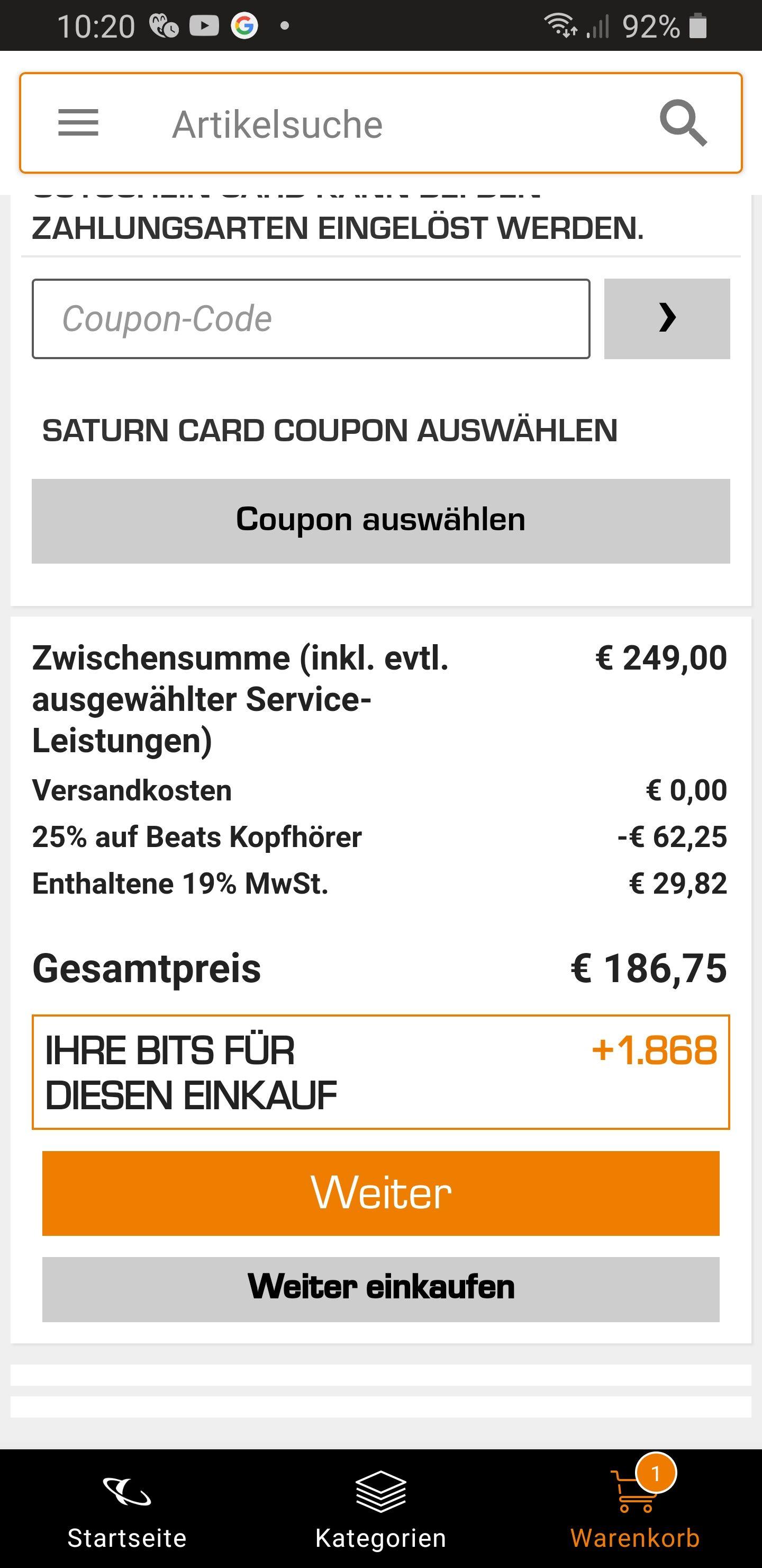 Beats Studio 3 wireless für 186,75€ Saturn 25% Abzug