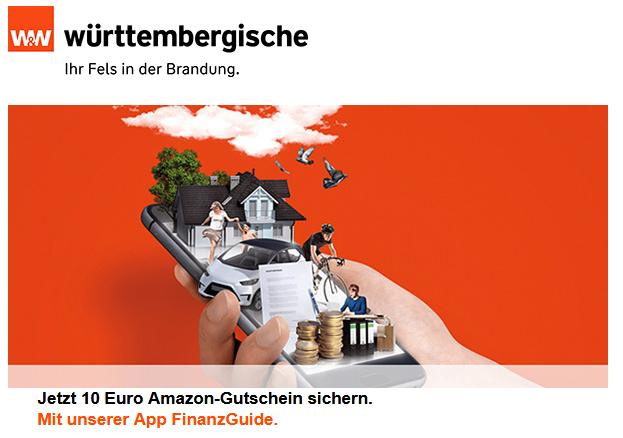 10€ Amazon Gutschein (Württembergische/Wüstenrot Kunden) für die Registrierung in der Finanzguide App