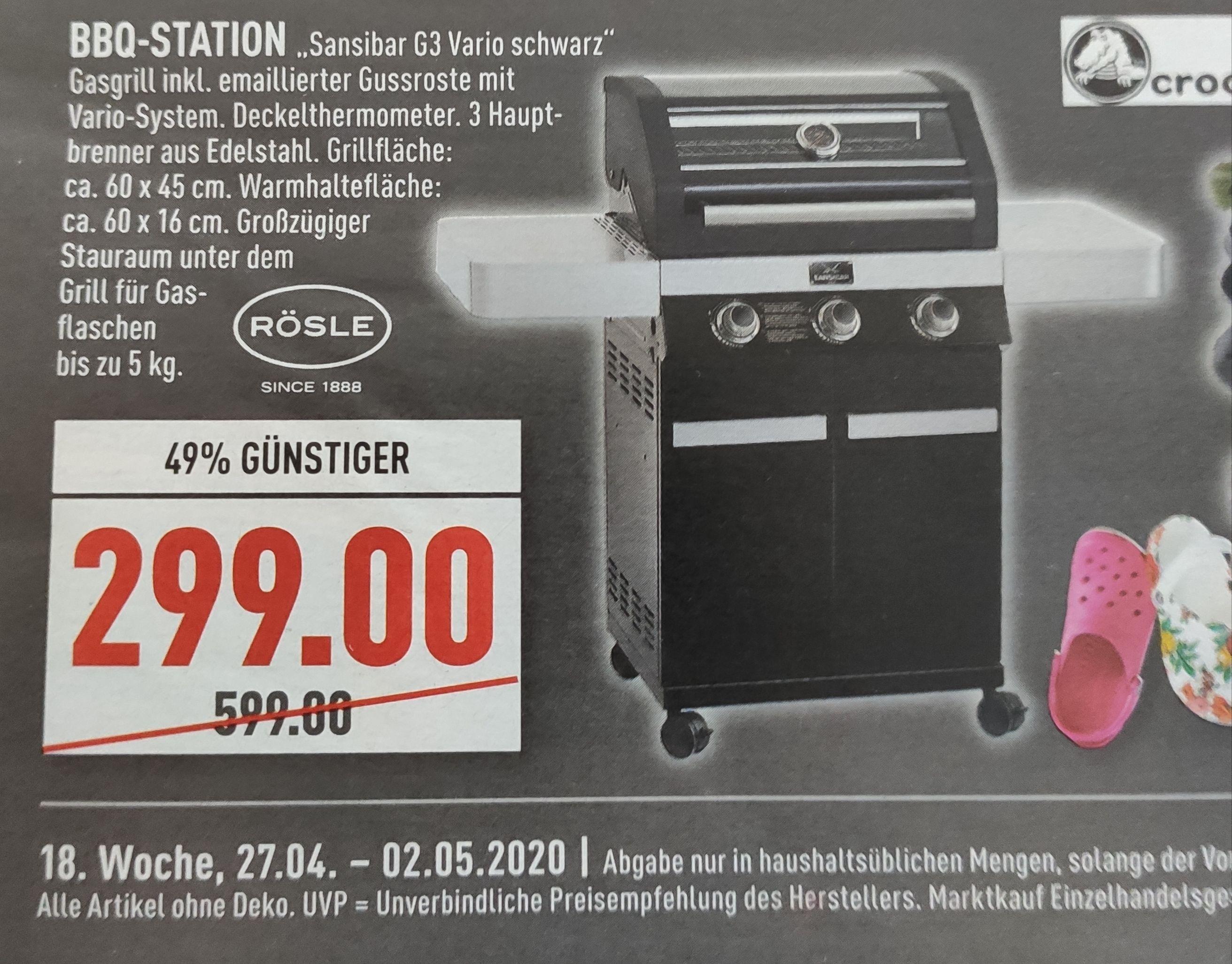 [Lokal Marktkauf Rhein-Ruhr] Rösle Sansibar G3 Vario in schwarz für 299€