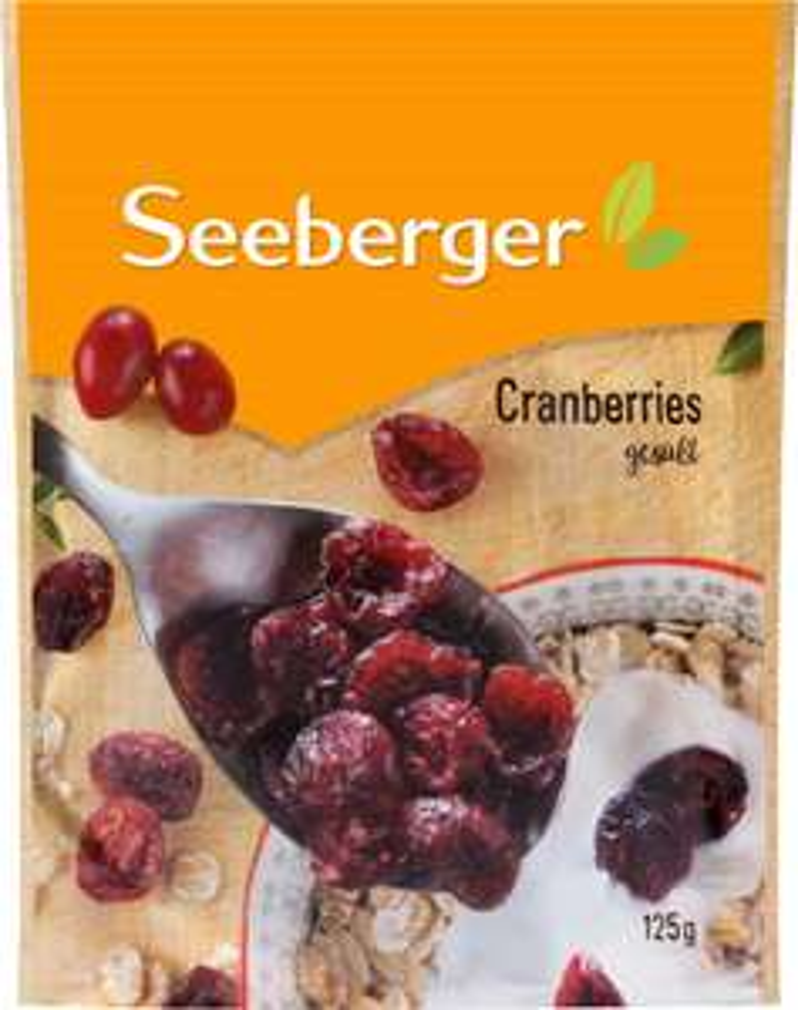 Seeberger Cranberries getrocknet die 125g Packung im Angebot