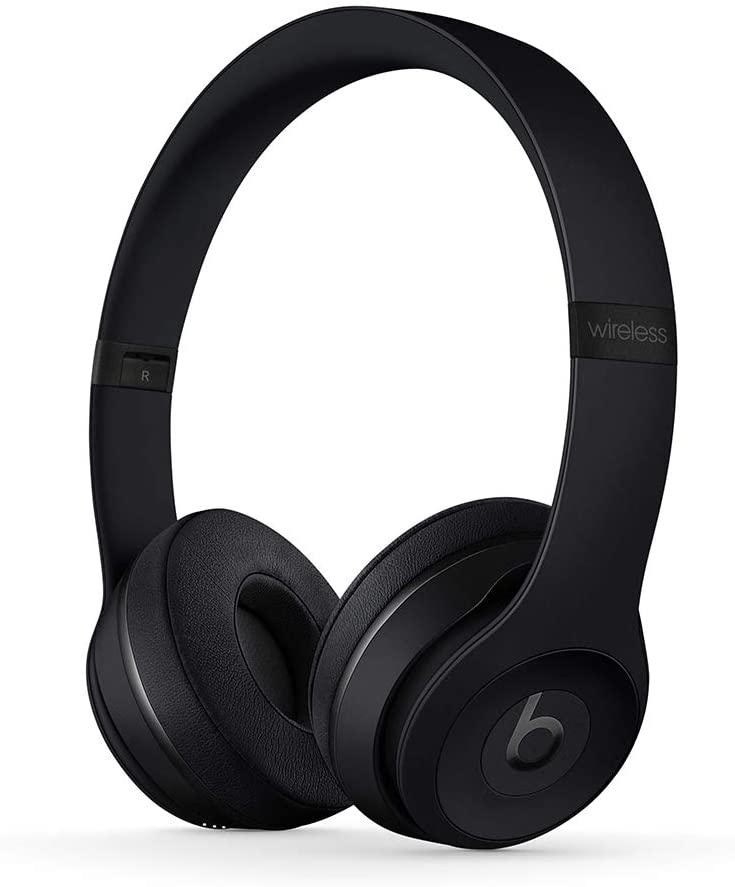 Beats Solo3 Kabellose Bluetooth On-Ear Kopfhörer – Apple W1 Chip, Bluetooth der Klasse 1, 40 Stunden Wiedergabe – Schwarz
