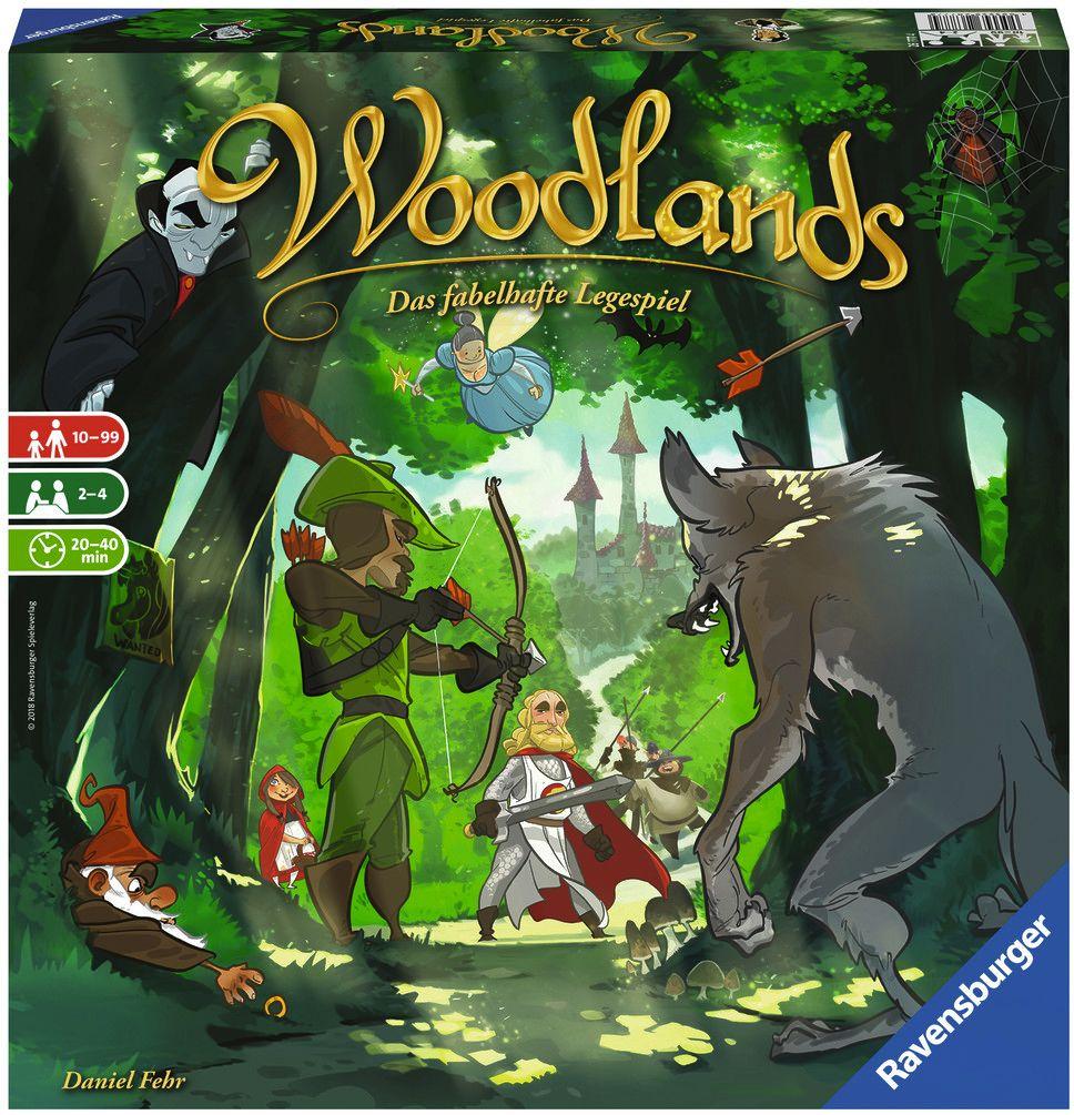 Ravensburger Spiel - Woodlands mit Füllartikel |ab 10 Jahre für 2-4 Spieler, 20-40 Minuten