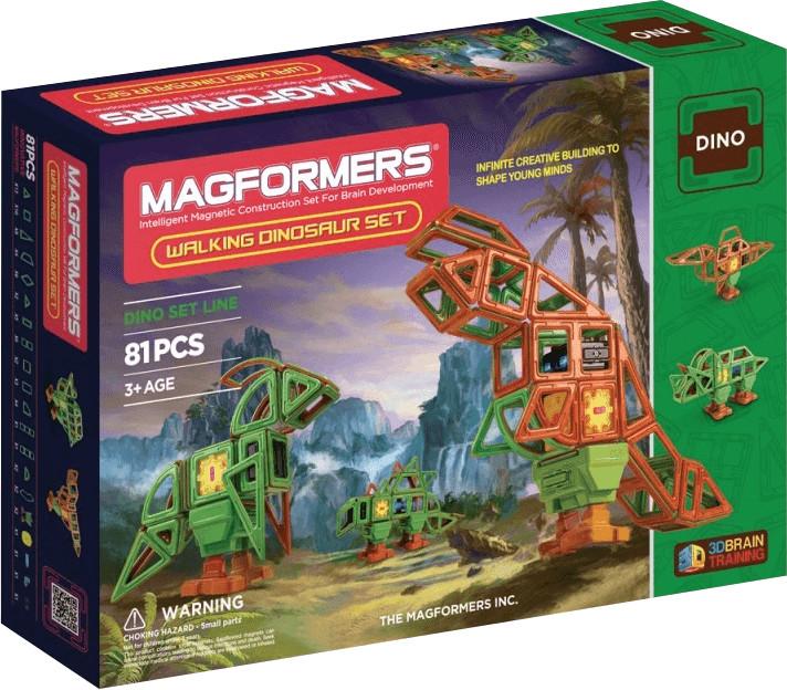Magformers Dinosaurier-Set 81tlg - mit motorbetriebenen Füßen, fördert die Feinmotorik, Kreativität und Logik (3D)