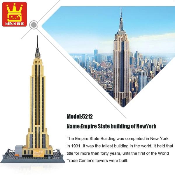 [Klemmbausteine] Architektur Empire State Building (5212) von Wange aus DE mit org. Verpackung