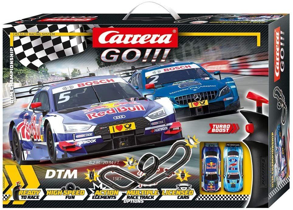 Carrera 62503 Go 1:43 DTM Championship Audi RS 5 DTM vs. Mercedes-AMG C63 DTM (1:43 Rennbahn mit Looping inkl. Fahrzeuge)