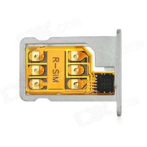 Turbo R-SIM6 Nano SIM Unlock iOS 6.0 GSM + WCDMA w/ Tray for iPhone 5 - Black + Yellow