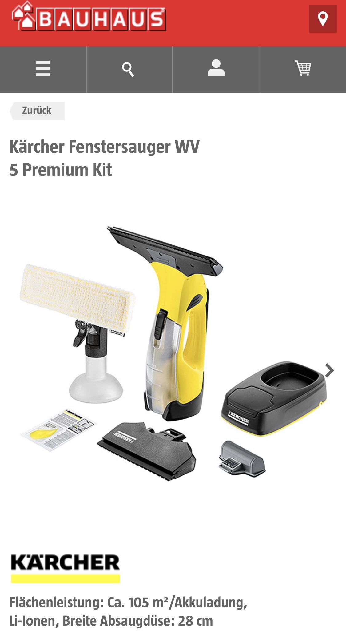Fenstersauger Kärcher Fenstersauger WV 5 Premium Kit