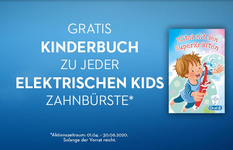 Oral-B: Gratis Kinderbuch beim Kauf einer Elektrischen Kids Zahnbürste (Aktionssticker erforderlich)