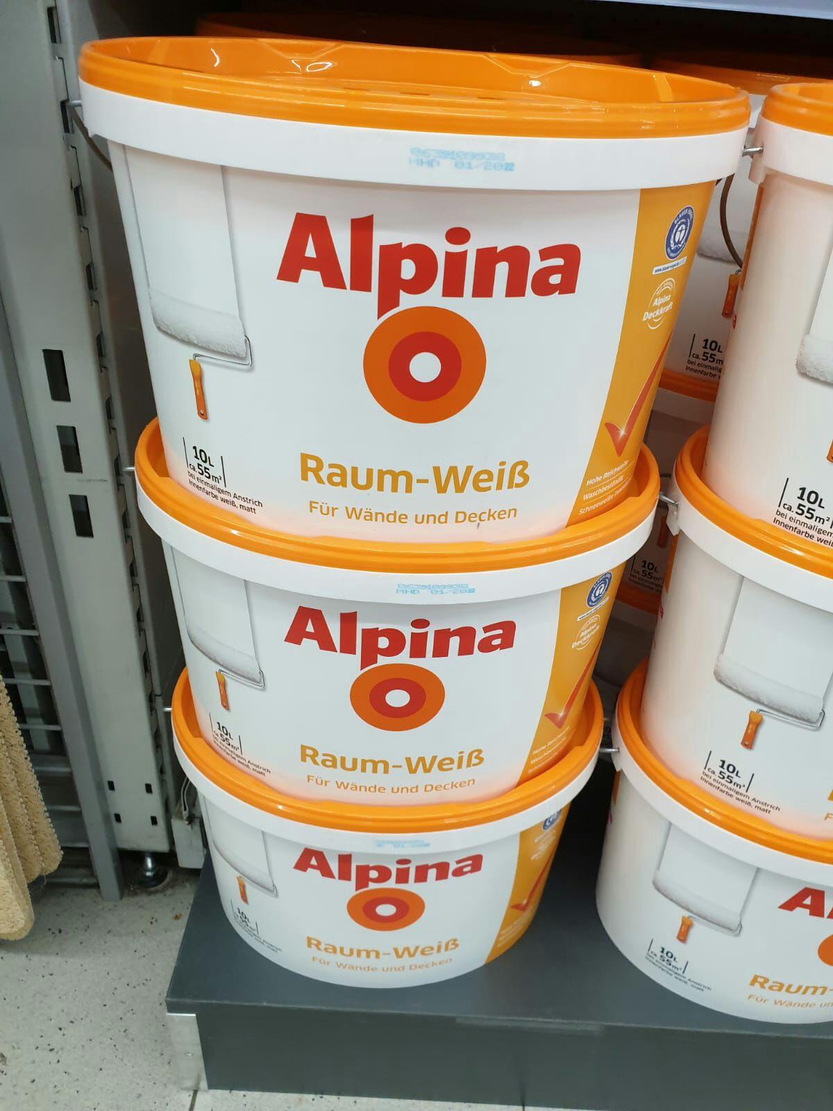 Alpina Raum Weiß 10 Liter (real Berlin Neukölln) eventuell Bundesweit
