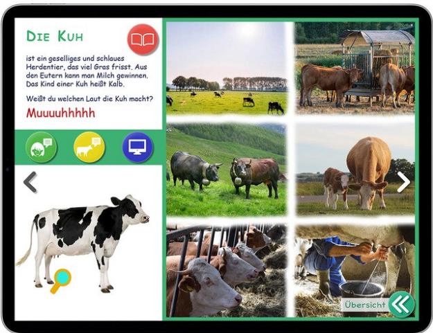 """Cortea: interaktives Kinderbuch """"Die Tiere auf dem Bauernhof"""""""