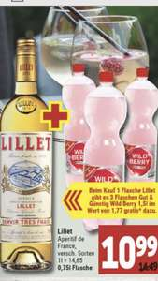 [Marktkauf Minden-Hannover] Lillet Aperitif Blanc oder Rose inkl. 4,5l Wild Berry
