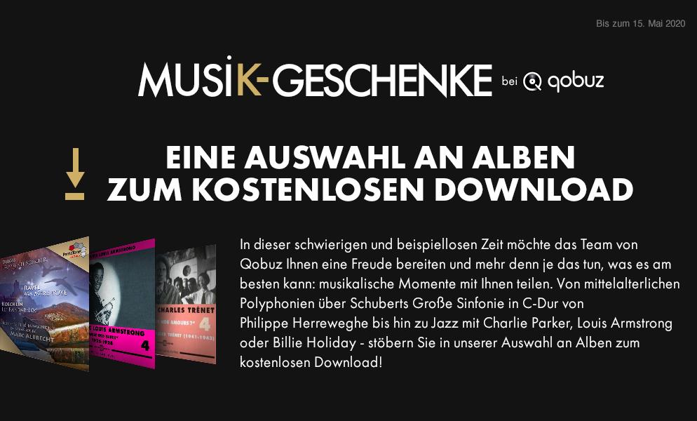 20 Jazz/Klassik Alben zum kostenlosen Download, z.T. in HighRes [Qobuz]