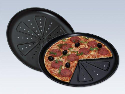 [amazon] Pizzabackblech, 2 Stück, Durchmesser: 28 cm, in neuer Profiqualität 250 Grad hitzebeständig