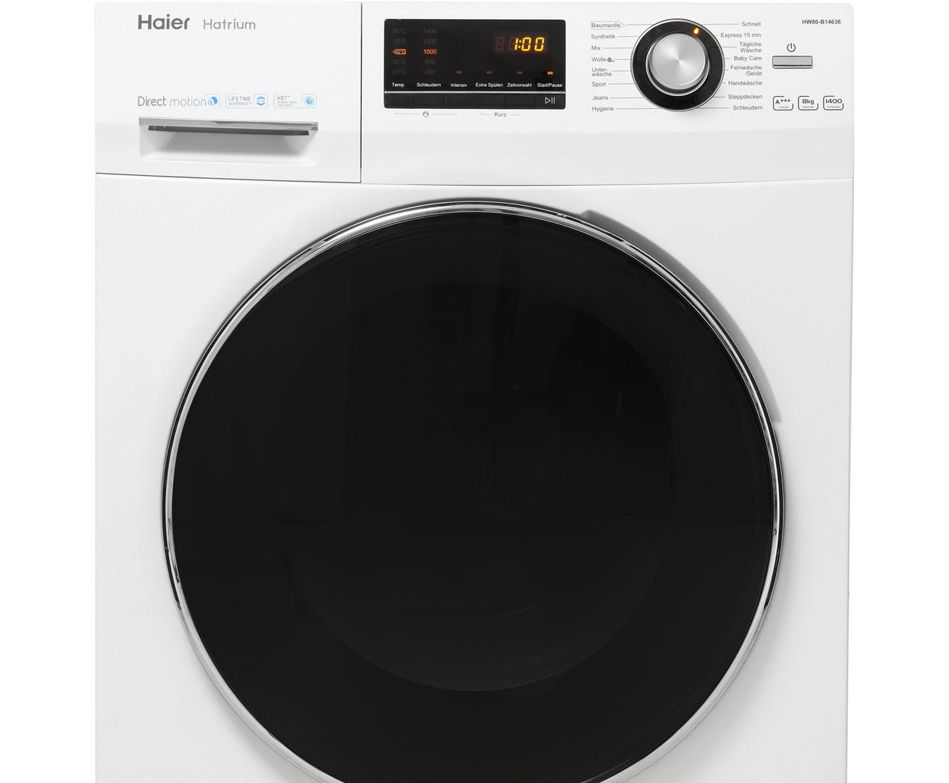 Haier HW80-B14636 Waschmaschine, 8 kg, 1400 U/Min, A+++ Inkl. lieferung bis in die Wohnung