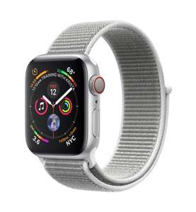 Apple Watch Series 4 GPS + Cellular 40mm silber Aluminium Sport Loop muschel