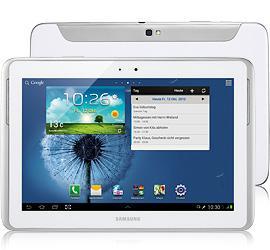 Samsung Galaxy Note 10.1 LTE weiß + Original T-Mobile Flat  1GB (LTE möglich)