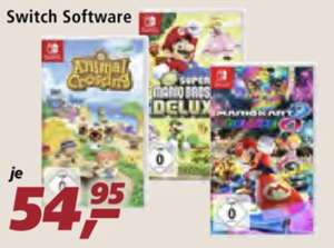 Real Family & Friends Montag 04.05.2020 Nintendo Switch Spiele Animal Crossing, Super Mario Kart 8 Deluxe und Super Mario Party für 44,51€