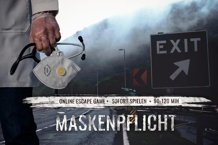 """[Online Escape Game - Exit Spiel] """"Maskenpflicht"""" - 4wallsescape"""
