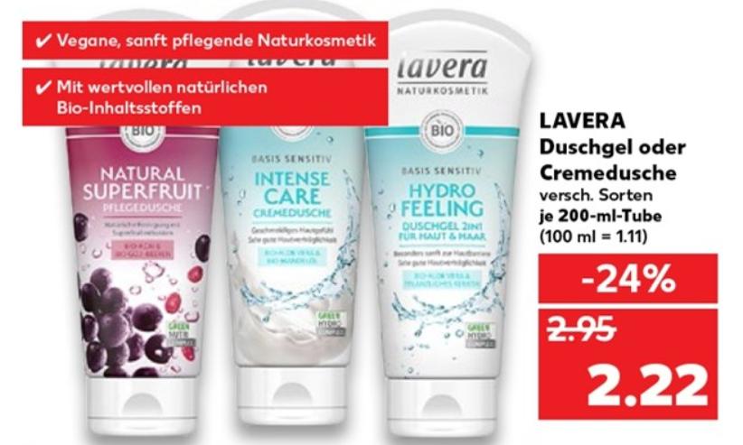 Lavera (Naturkosmetik) Duschgel je 200 ml-Tube bei Kaufland ab 30.04.2020