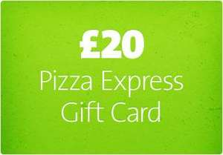£20 Pizza Express Geschenkkarte Kostenlos mit etwas Aufwand